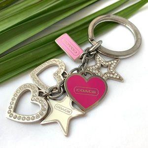 Coach Key Ring rhinestones hearts 💕 stars ⭐️